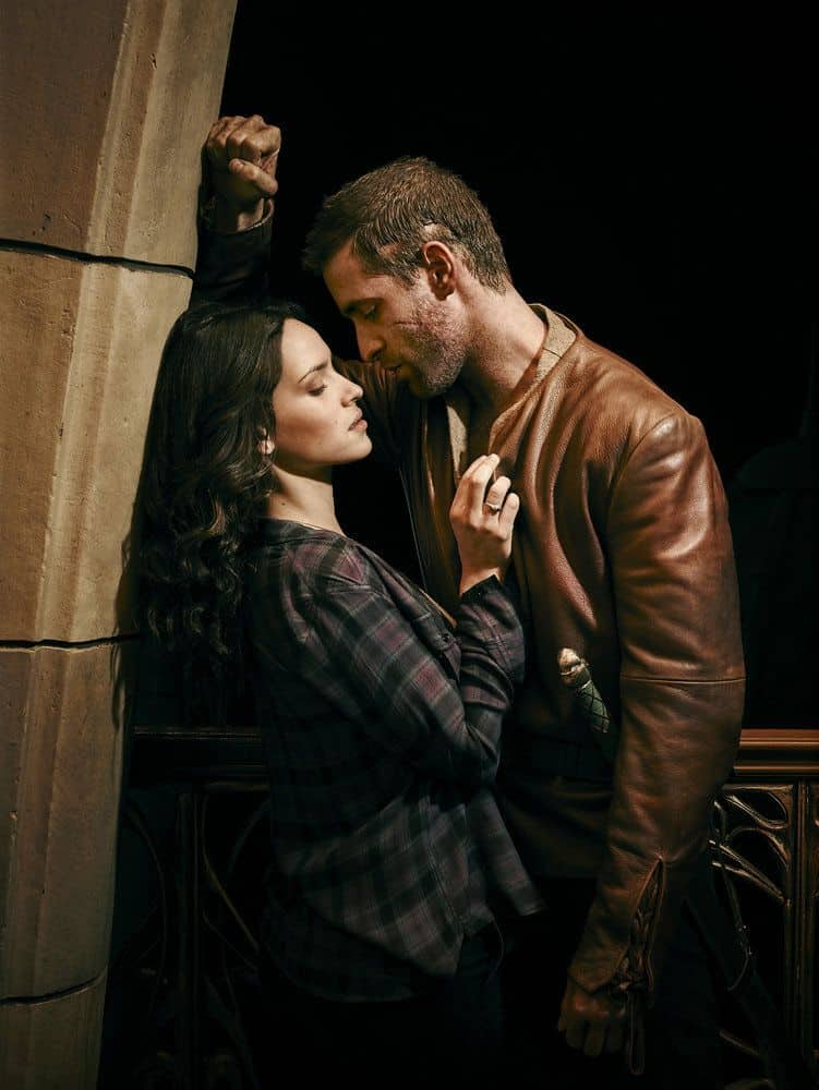 EMERALD CITY -- Season: 1 -- Pictured: (l-r) Adria Arjona as Dorothy Gale, Oliver Jackson-Cohen as Lucas -- (Photo by: Michael Muller/NBC)