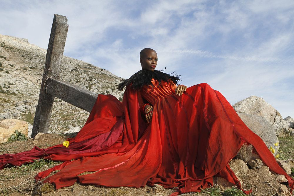 """EMERALD CITY -- """"The Beast Forever"""" Episode 101 -- Pictured: Florence Kasumba as Wicked Witch/East -- (Photo by: Rico Torres/NBC)"""