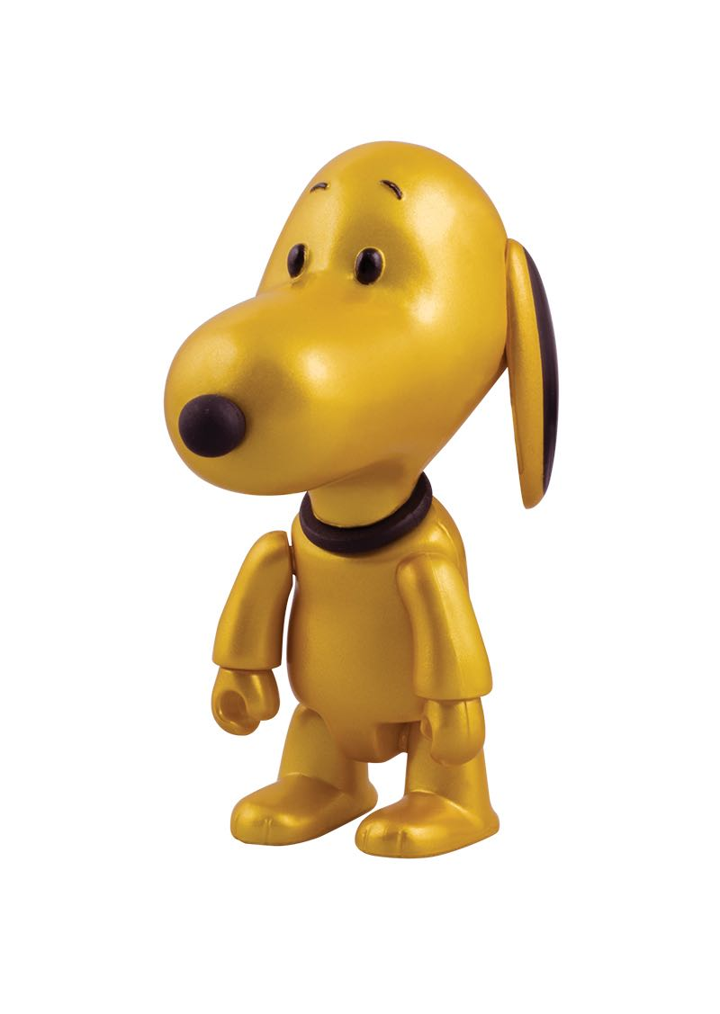"""Snoopy Qee Mystery Figure Gold Edition $8.00 3"""" gold Snoopy Qee figure. Limited edition of 550 2 per person per day"""