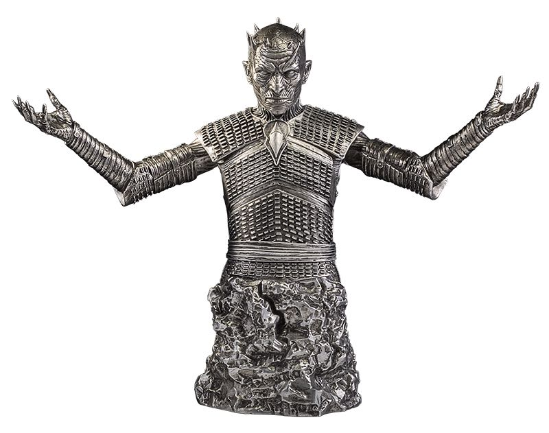 """Game of Thrones The Night King Bust Silver Edition $150.00 8.5"""" silver bust. Limited Edition of 200 1 per person per day"""