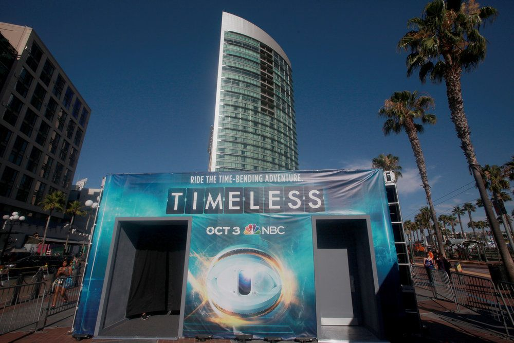 """COMIC-CON INTERNATIONAL: SAN DIEGO 2016 -- """"NBC at Comic-Con"""" -- Pictured: """"Timeless""""; NBC Activation at Tin Fish, San Diego, Calif. -- (Photo by: David Yeh/NBC)"""