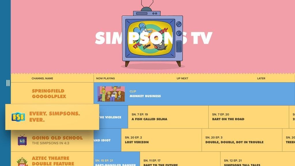 FXNOW-Simpsons TV