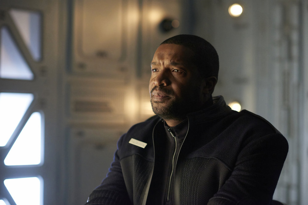 """DARK MATTER -- """"Kill Them All"""" Episode 202 -- Pictured: Roger Cross as Six -- (Photo by: Russ Martin/Prodigy Pictures/Syfy)"""