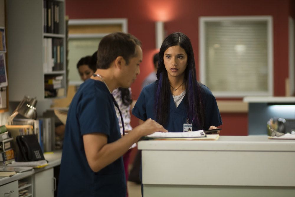 """THE NIGHT SHIFT-- """"Trust Issues"""" Episode 311 -- Pictured: Tanaya Beatty as Dr. Shannon Rivera -- (Photo by: Cathy Kanavy/NBC)"""