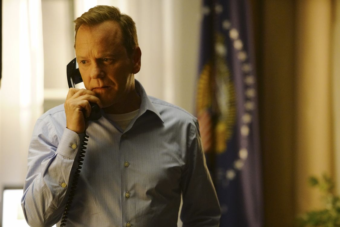 """DESIGNATED SURVIVOR - """"Pilot"""" - Kiefer Sutherland stars as Tom Kirkman, a lower-level cabinet member who is suddenly appointed President of the United States after a catastrophic attack on the U.S. Capitol during the State of the Union, on the highly anticipated ABC series """"Designated Survivor,"""" airing WEDNESDAY, SEPTEMBER 21 (10:00-11:00 p.m. EDT). (ABC/Ian Watson) KIEFER SUTHERLAND"""