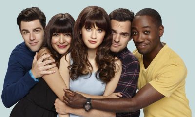 NEW GIRL: L-R: Max Greenfield, Hannah Simone, Zooey Deschanel, Jake Johnson and Lamorne Morris. NEW GIRL premieres Tuesday, Sept. 20 (8:30-9:00 PM ET/PT) on FOX. ©2016 Fox Broadcasting Co. Cr: Brian Bowen Smith/FOX