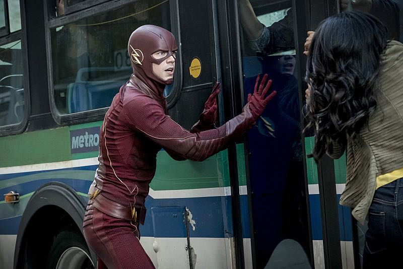 """The Flash -- """"Monster"""" -- Image FLA305a_0092b.jpg -- Pictured (L-R): Grant Gustin as The Flash and Candice Patton as Iris West -- Photo: Katie Yu/The CW -- © 2016 The CW Network, LLC. All rights reserved."""