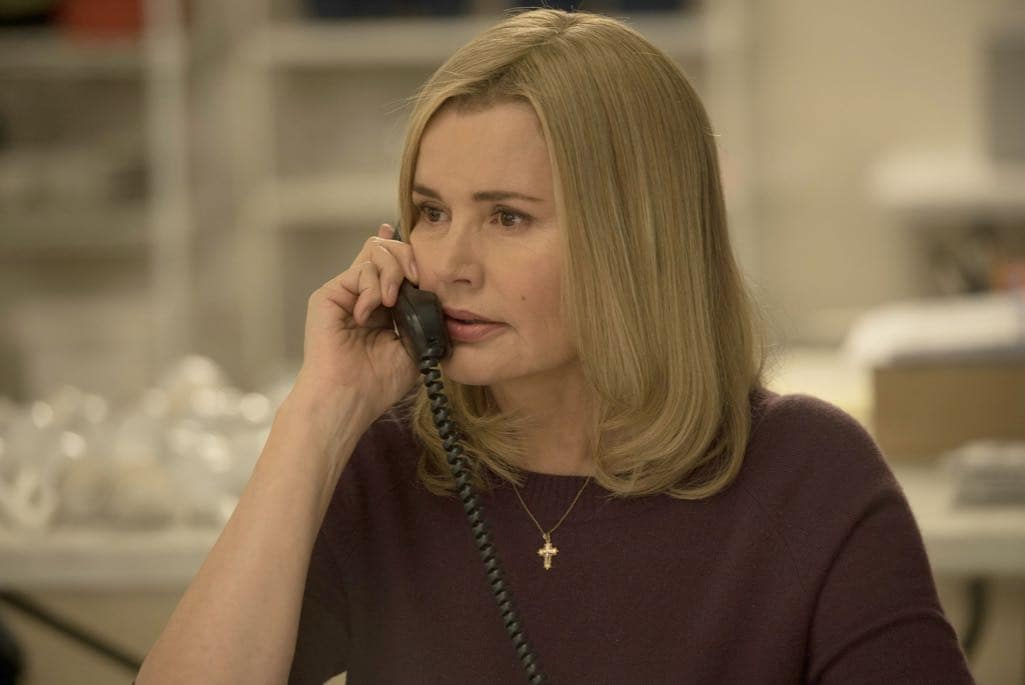 "THE EXORCIST: Geena Davis in the ""Chapter Six: Star of the Morning"" episode of THE EXORCIST airing Friday, Nov. 4 (9:01-10:00 PM ET/PT) on FOX. ©2016 Fox Broadcasting Co. Cr: Jean Whiteside/FOX"
