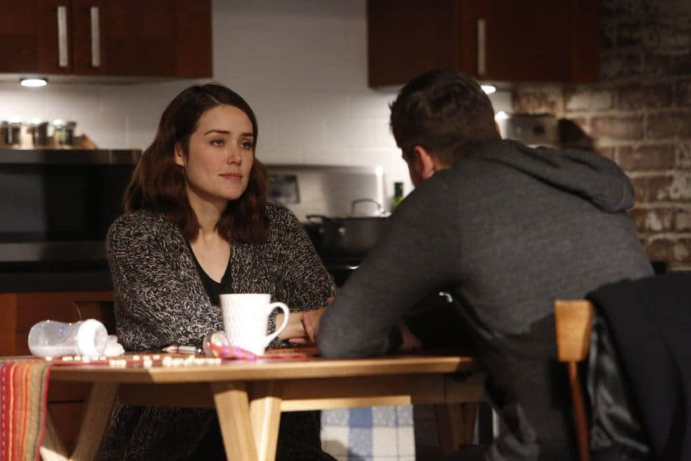 """THE BLACKLIST -- """"Natalie Luca #184"""" Episode 412 -- Pictured: (l-r) Megan Boone as Elizabeth Keen, Ryan Eggold as Tom Keen -- (Photo by: Will Hart/NBC)"""