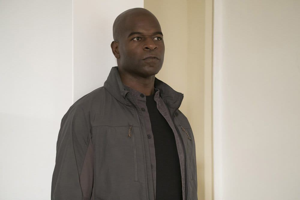 "THE BLACKLIST -- ""The Forecaster: #163"" Episode 410 -- Pictured: Hisham Tawfiq as Dembe Zuma -- (Photo by: Virginia Sherwood/NBC)"
