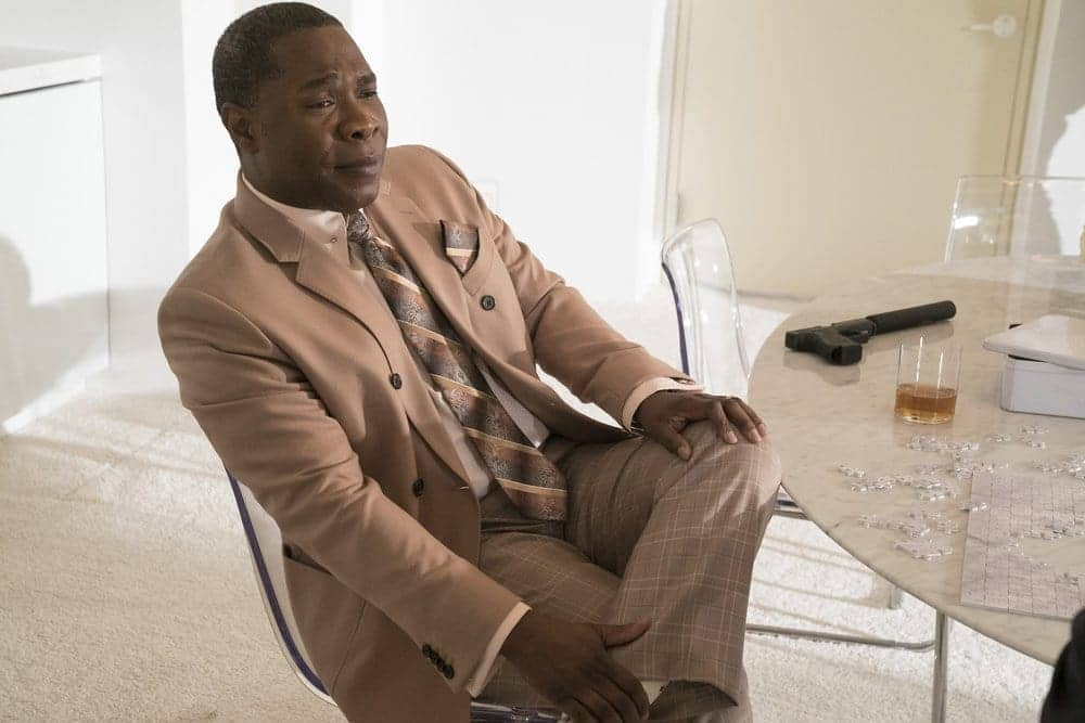 "THE BLACKLIST -- ""The Forecaster: #163"" Episode 410 -- Pictured: Michael Potts as Iniko -- (Photo by: Virginia Sherwood/NBC)"