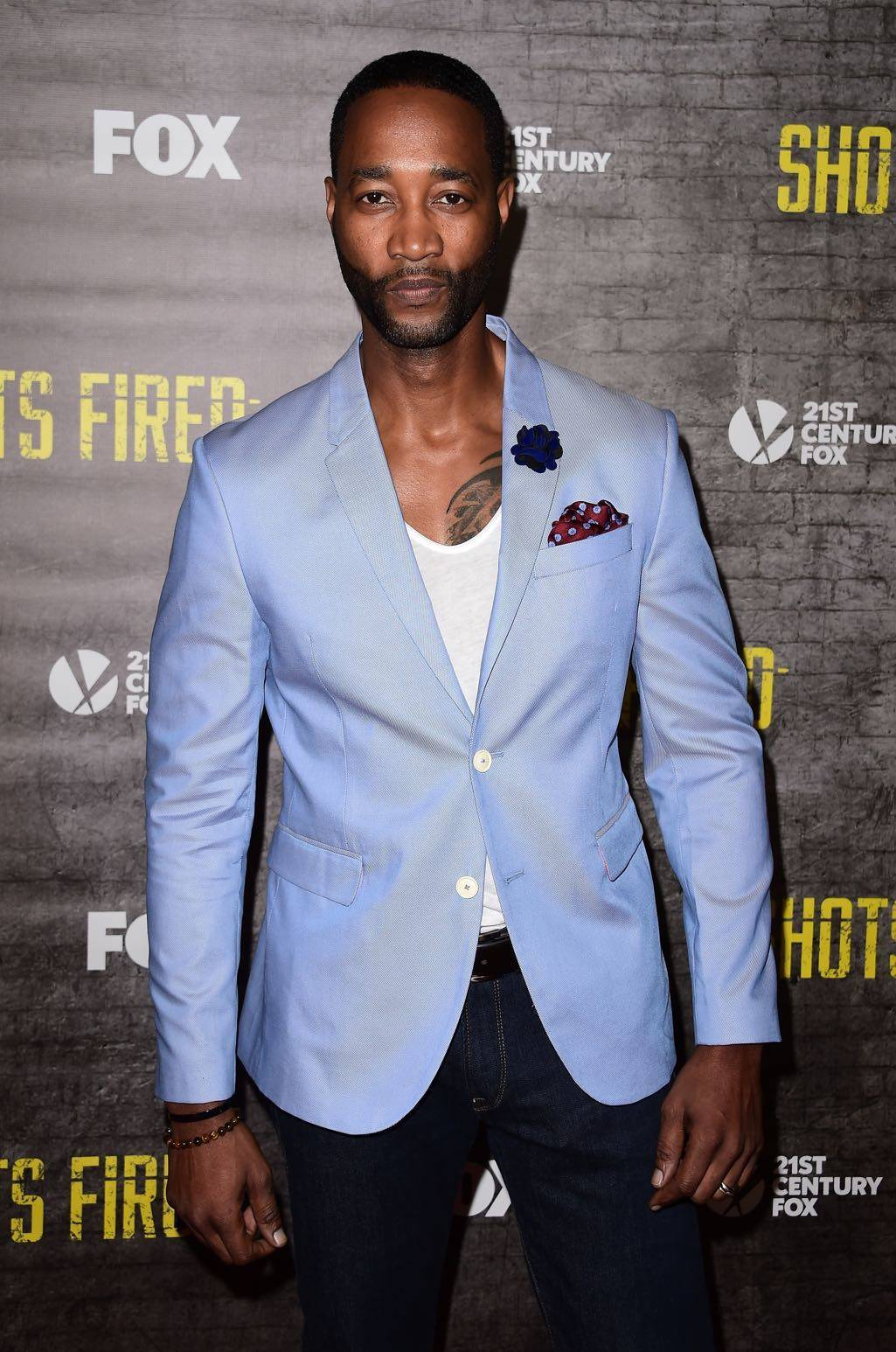 SHOTS FIRED: Cast member Yohance Myles arrives at the SHOTS FIRED red carpet premiere screening and discussion at the Pacific Design Center on Thursday, March 16, in Los Angeles, CA. SHOTS FIRED premieres Wednesday, March 22 (8:00-9:00 PM ET/PT) on FOX. © 2017 FOX BROADCASTING CR: Scott Kirkland/FOX