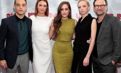 MR. ROBOT -- Official Emmy Event -- Pictured: (l-r) Rami Malek, Grace Gummer, Carly Chaikin, Portia Doubleday, Christian Slater