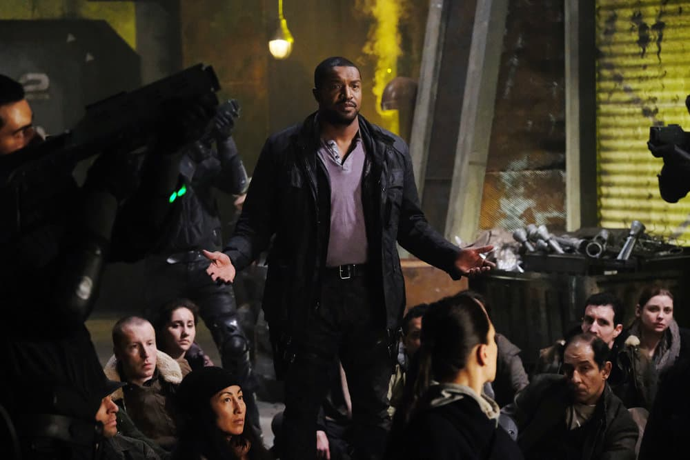 """DARK MATTER -- """"Welcome To The Revolution"""" Episode 303 -- Pictured: Roger Cross as Six"""