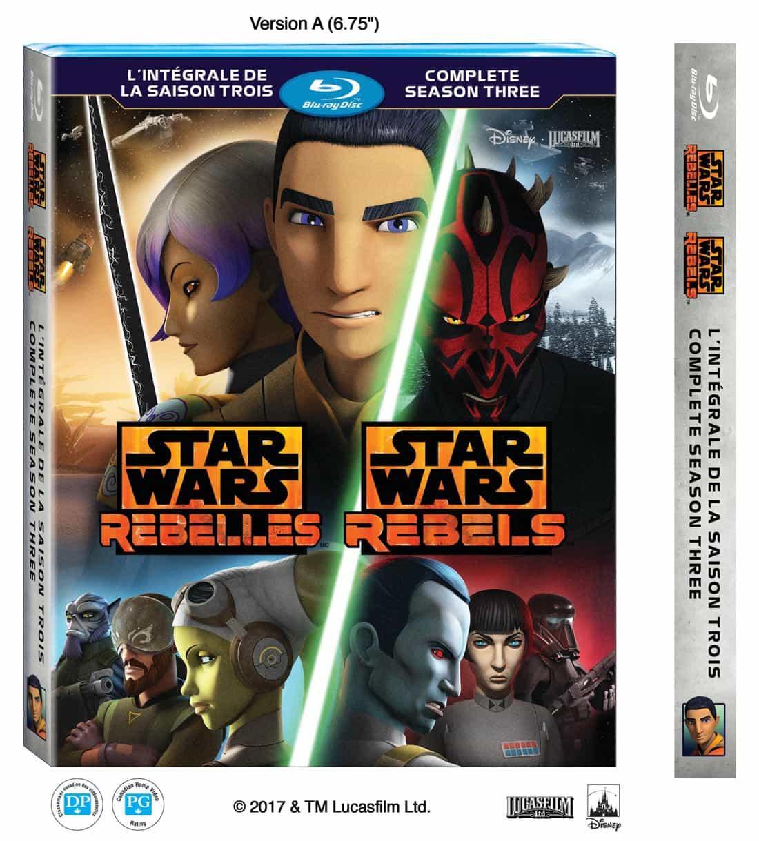 STAR WARS REBELS Season 3 Blu-ray And DVD Release Details