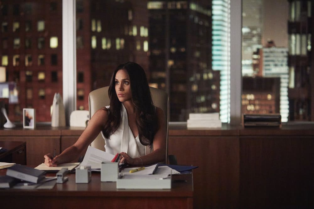 "SUITS -- ""The Statue"" Episode 702 -- Pictured: Meghan Markle as Rachel Zane"