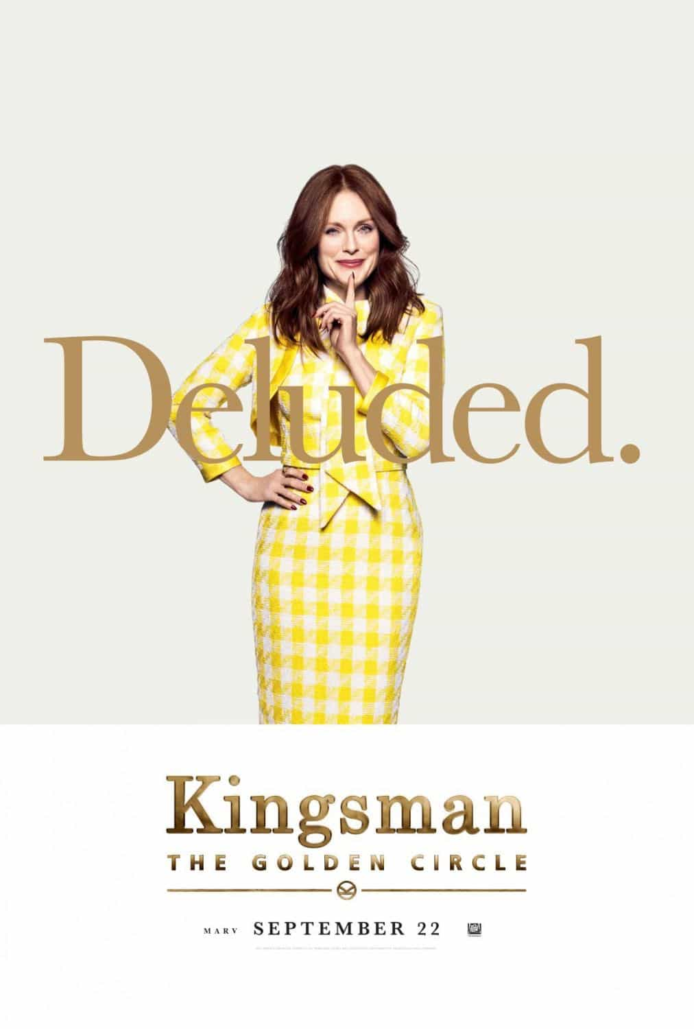 KINGSMAN THE GOLDEN CIRCLE Character Posters   SEAT42F A Common Man Dvd