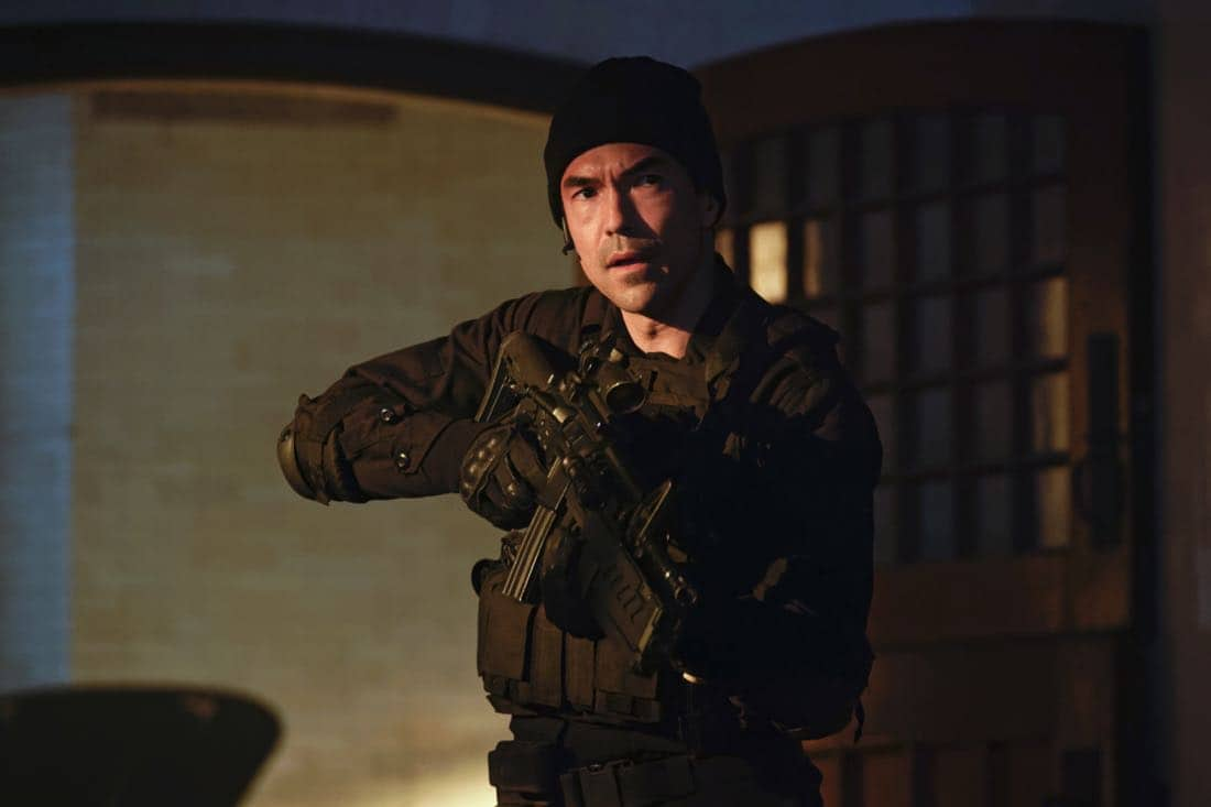 """""""Chip Off the Ol' Block"""" - Darius recruits Grace, Harris and Liam for a dangerous mission, and Jillian confronts Liam about his secret, on SALVATION, Wednesday, August 9 (9:00-10:00, ET/PT). Pictured: Ian Anthony Dale. Photo: Ben Mark Holzberg/CBS ©2017 CBS Broadcasting Inc. All Rights Reserved"""