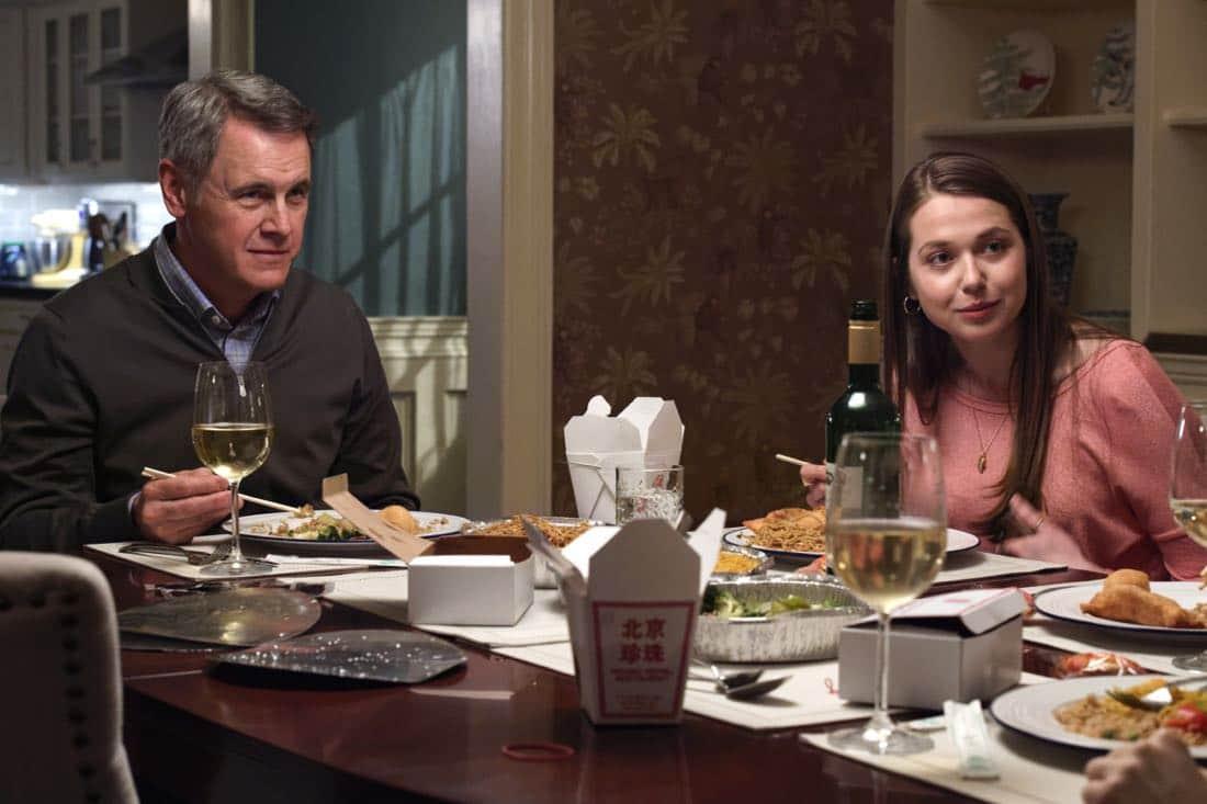 """""""Chip Off the Ol' Block"""" - Darius recruits Grace, Harris and Liam for a dangerous mission, and Jillian confronts Liam about his secret, on SALVATION, Wednesday, August 9 (9:00-10:00, ET/PT). Pictured: Mark Moses, Rachel Drance. Photo: Ben Mark Holzberg/CBS ©2017 CBS Broadcasting Inc. All Rights Reserved"""
