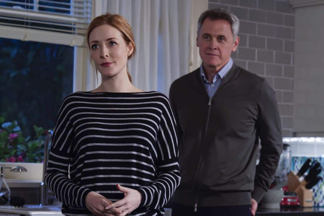 """""""Chip Off the Ol' Block"""" - Darius recruits Grace, Harris and Liam for a dangerous mission, and Jillian confronts Liam about his secret, on SALVATION, Wednesday, August 9 (9:00-10:00, ET/PT). Pictured: Jennifer Finnigan, Mark Moses. Photo: Ben Mark Holzberg/CBS ©2017 CBS Broadcasting Inc. All Rights Reserved"""