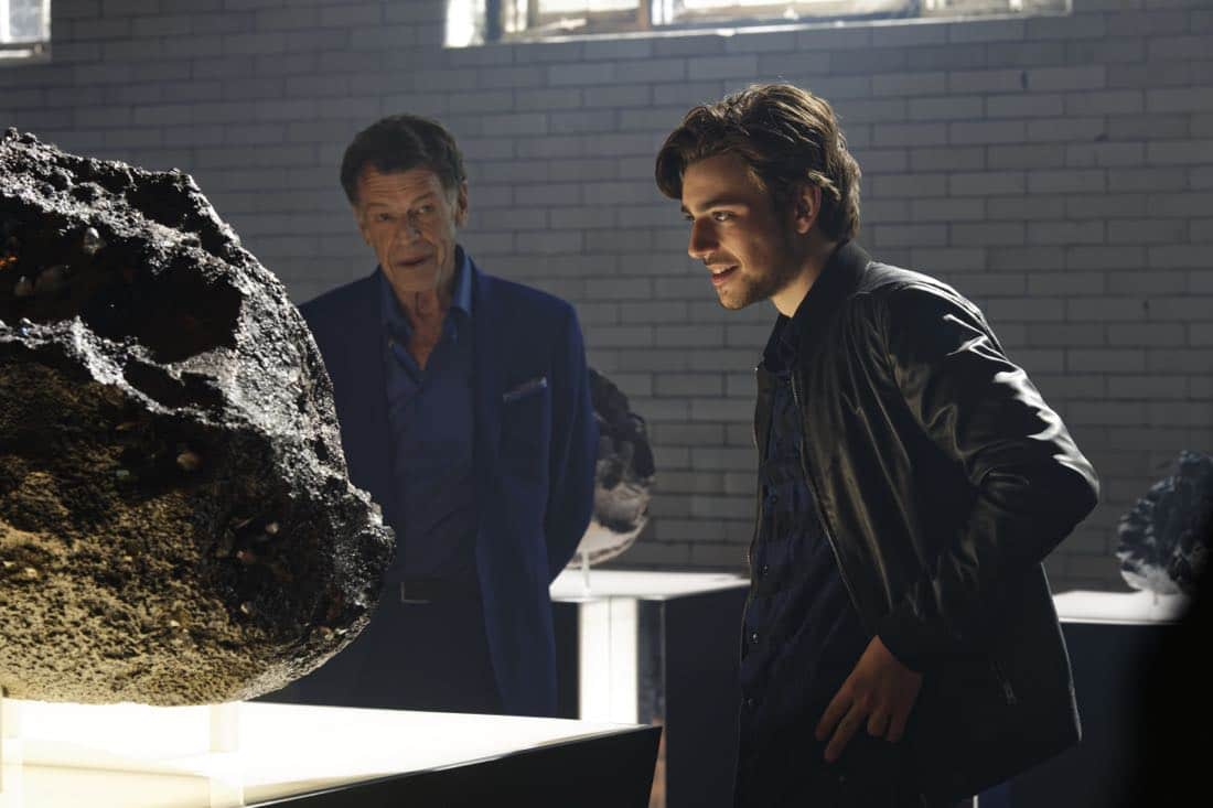 """""""Chip Off the Ol' Block"""" - Darius recruits Grace, Harris and Liam for a dangerous mission, and Jillian confronts Liam about his secret, on SALVATION, Wednesday, August 9 (9:00-10:00, ET/PT). Pictured: John Noble, Charlie Rowe. Photo: Ben Mark Holzberg/CBS ©2017 CBS Broadcasting Inc. All Rights Reserved"""