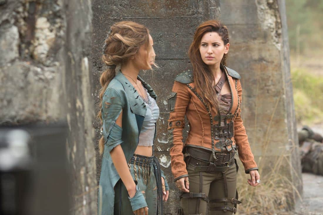 "L to R: Lyria (Vanessa Morgan) and Eretria (Ivana Baquero) star in ""The Shannara Chronicles"" Season 2 premiering Wednesday, October 11 at 10pm ET/PT on Spike."
