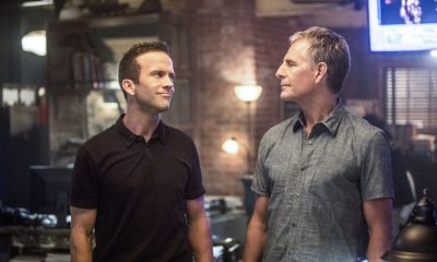 """""""Rogue Nation"""" -- While Pride remains on probation six weeks after his rogue takedown of the corrupt Mayor Hamilton, his team is closely monitored by Supervisory Special Agent Paula Boyd (Becky Ann Baker.) Also, when the FBI arrives to run lead on a case involving a stolen big rig of nuclear waste, the team must secretly investigate from the sidelines, on NCIS: NEW ORLEANS, Tuesday, Sept. 26 (10:00-11:00, ET/PT) on the CBS Television Network. Pictured L-R: Lucas Black as Special Agent Christopher LaSalle and Scott Bakula as Special Agent Dwayne Pride Photo: Skip Bolen/CBS ©2017 CBS Broadcasting, Inc. All Rights Reserved"""