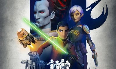 """STAR WARS REBELS - A brand new """"Star Wars Rebels"""" trailer debuted at Star Wars Celebration Europe today and revealed some big hints of what's to come in the hit series' third season, including new characters Grand Admiral Thrawn-a fan-favorite from Star Wars Legends voiced by """"House of Cards"""" Lars Mikkelsen-and Bendu, an ancient and powerful new character voiced by classic """"Doctor Who"""" actor Tom Baker. (Lucasfilm)"""