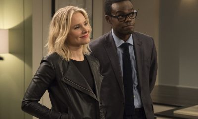 "THE GOOD PLACE -- ""Everything is Great!"" Episode 201 -- Pictured: (l-r) Kristen Bell as Eleanor, William Jackson Harper as Chidi -- (Photo by: Colleen Hayes/NBC)"