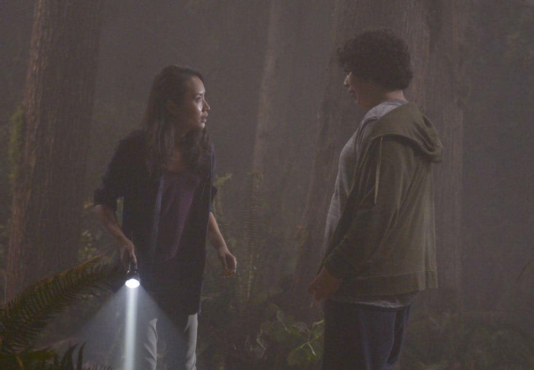 "THE EXORCIST: L-R: Li Jun Li and guest star Cyrus Arnold in the ""Janus"" season premiere episode of THE EXORCIST airing Friday, Sept. 29 (9:00-10:00 PM ET/PT) on FOX. ©Fox Broadcasting Co. Cr: Sergei Bachlakov/FOX"