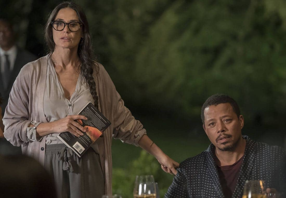 """EMPIRE: Pictured L-R: Guest star Demi Moore and Terrence Howard in the """"Noble Memory"""" episode of EMPIRE premiering Wednesday, Sept. 27 (8:00-9:00 PM ET/PT) on FOX. ©2017 Fox Broadcasting Co. CR: Chuck Hodes/FOX"""