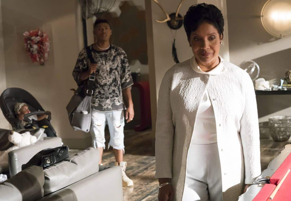 """EMPIRE: Pictured L-R: Bryshere Gray and guest star Phylicia Rashad in the """"Noble Memory"""" episode of EMPIRE premiering Wednesday, Sept. 27 (8:00-9:00 PM ET/PT) on FOX. ©2017 Fox Broadcasting Co. CR: Chuck Hodes/FOX"""