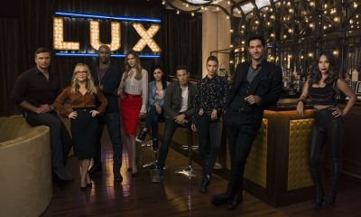 LUCIFER: Season 3 of LUCIFER premieres Monday, Oct. 2 on FOX. Pictured: L-R: Tom Welling, Rachael Harris, DB Woodside, Tricia Helfer, Aimee Garcia, Kevin Alejandro, Lauren German, Tom Ellis and Lesley-Ann Brandt. ©2017 Fox Broadcasting Co. CR: Jason Bell/FOX