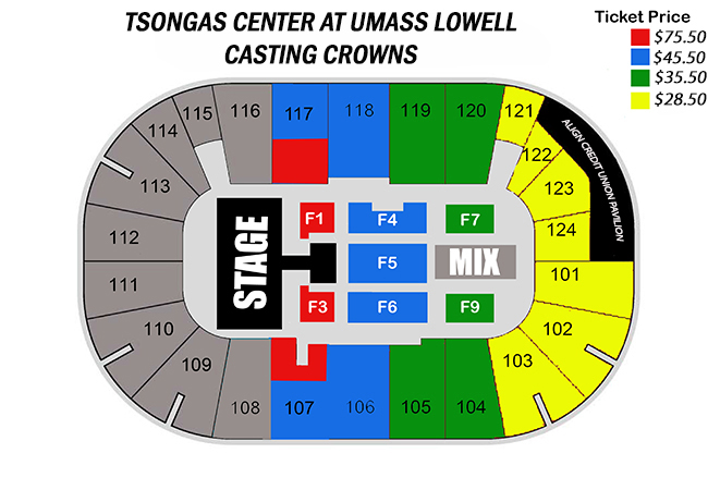 Tsongas center online ticket office casting crowns