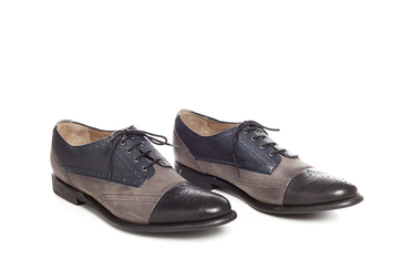 Ennis Grey Capped Brogue