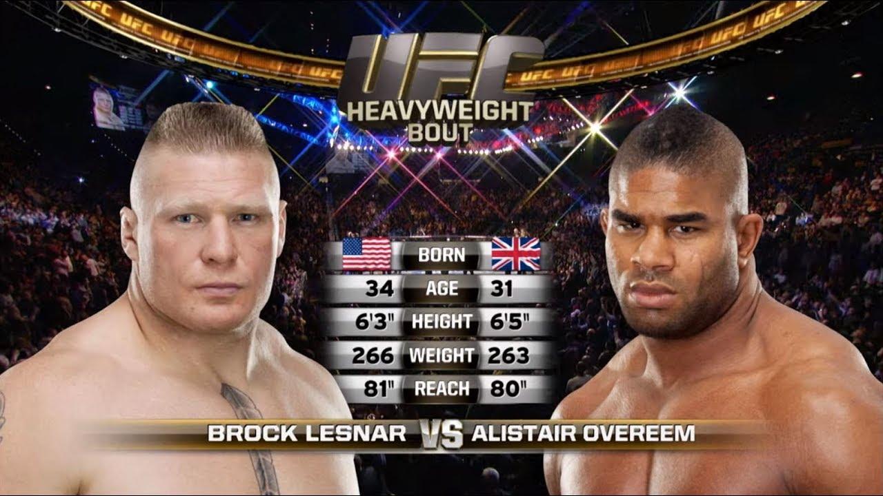 Ufc St Petersburg Free Fight Alistair Overeem Vs Brock
