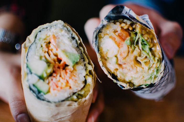 best dining hall food burrito seafood