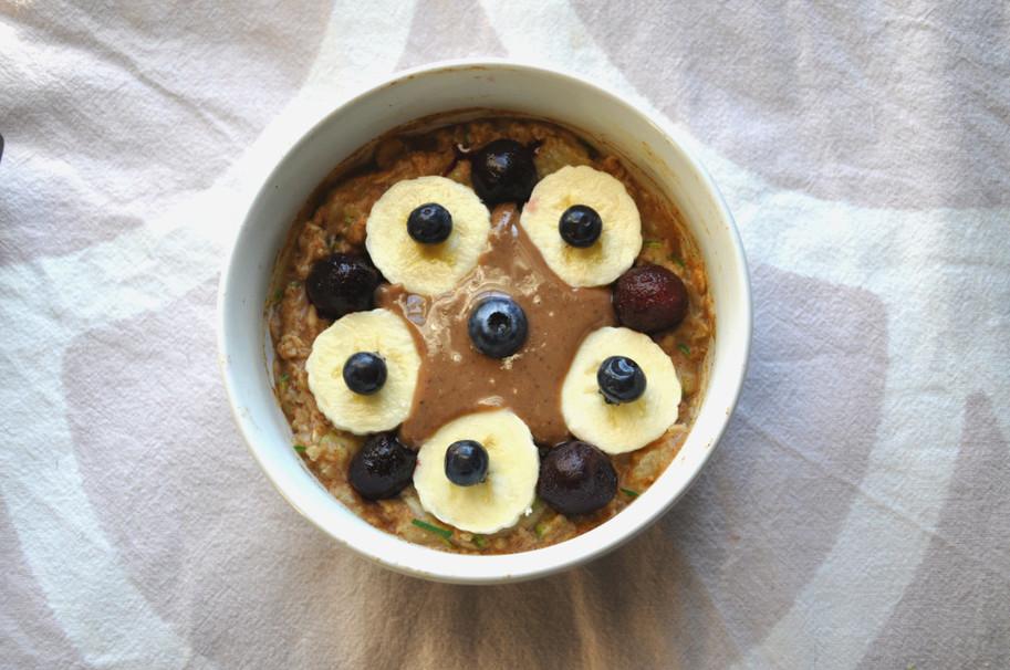 blueberry, oatmeal