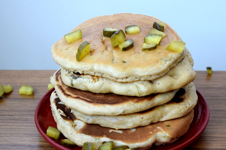 peanut butter pickle pancakes sound weird but taste delicious. Black Bedroom Furniture Sets. Home Design Ideas