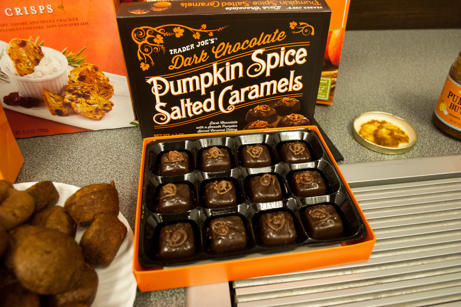pumpkin trader joe's candy chocolate
