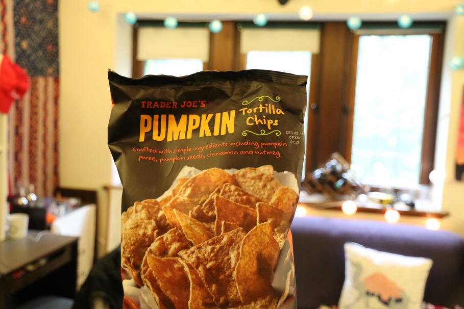 pumpkin trader joe's chips beer