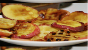 These Waffle Iron Apple Slices and Nutella Peanut Butter Dip Will Keep You Warm