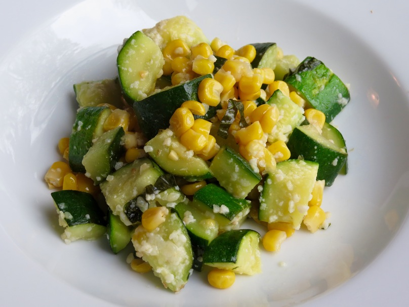 Zucchini courgette salad