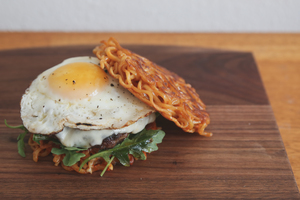 This Spicy Ramen Burger Will Set Your Tastebuds on Fire