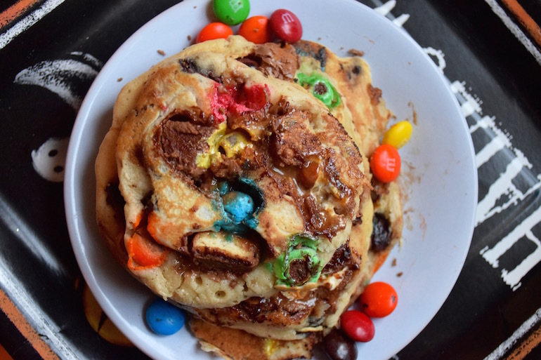Halloween candy waffle