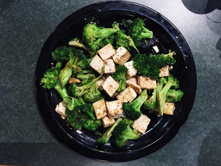 broccoli, tofu