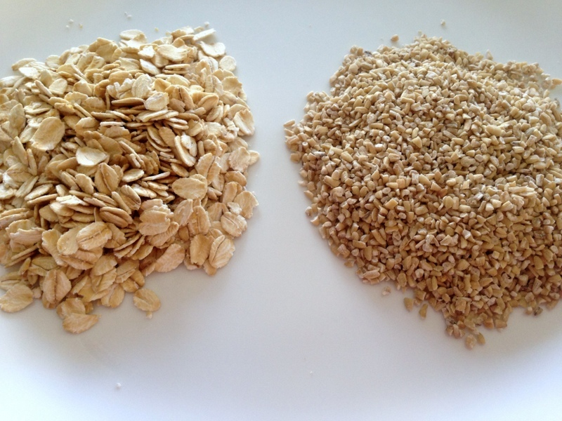 Oatmeal from rolled oats