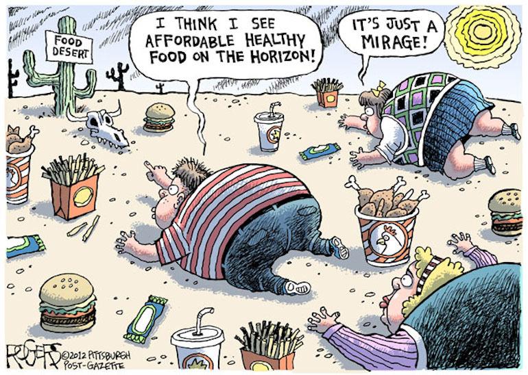Food Desert Political Cartoon
