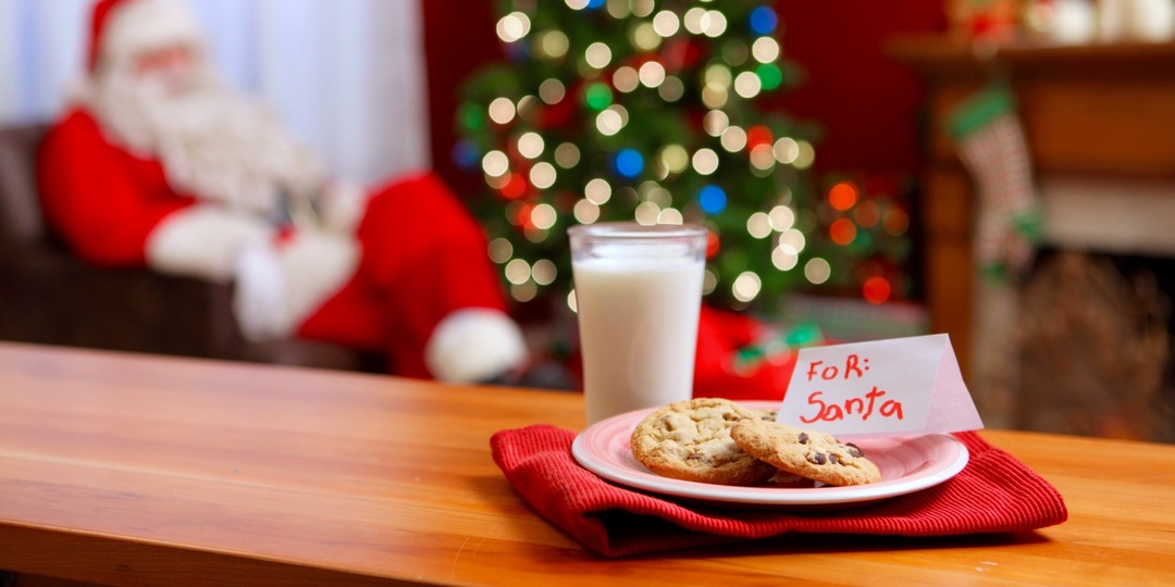 Image result for milk and cookies for santa