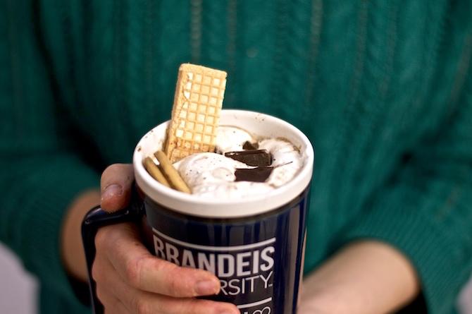 Simpsons Inspired Fluffernutter Hot Chocolate